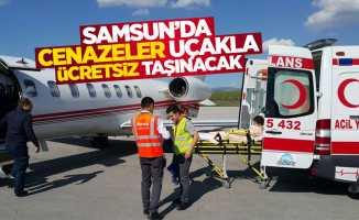 Samsun'da cenazeler uçakla ücretsiz taşınacak