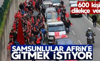 Samsun'da yüzlerce kişi Afrin için dilekçe verdi