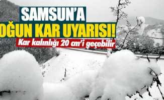 Samsun'a yoğun kar uyarısı! Kar kalınlığı 20 cm'i geçebilir