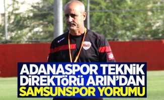Adanaspor teknik direktörü Arın'dan Samsunspor yorumu
