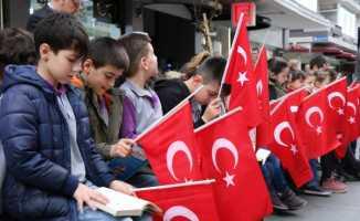 Samsun'da bin 200 öğrenci kitap okudu