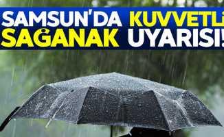 Samsun'da gök gürültülü sağanak yağış