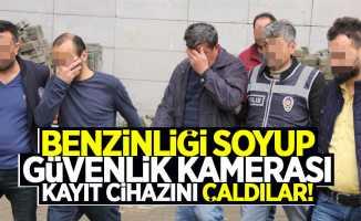 Samsun'da hırsızlar benzinliği soydu
