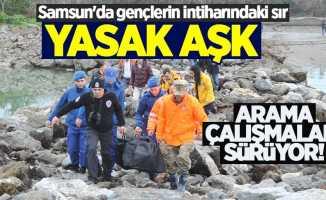 Samsun'da intihar eden genci arama çalışmaları sürüyor