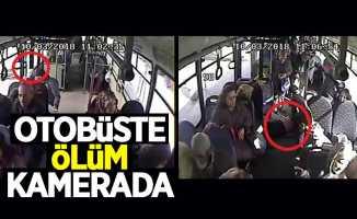 Samsun'da otobüsteki ölüm anı kamerada