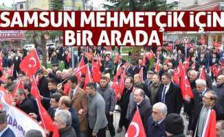 Samsun Mehmetçik için yürüdü