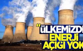 Memişoğlu: Ülkemizde Enerji Açığı Yok