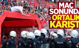 Samsunspor Denizlispor maçı sonrası gerginlik