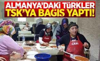 Gurbetteki Türklerden TSK'ya bağış