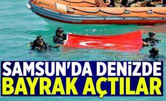 Samsun'da denizde bayrak açtılar