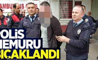 Samsun'da polis bıçaklandı