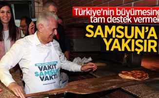 Başbakan Yıldırım, Samsun'da pide yaptı