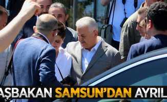 Başbakan Yıldırım, Samsun'dan ayrıldı