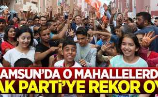 Canik'te o mahallelerde AK Parti'ye rekor oy