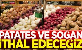 Patates ve soğan ithal edeceğiz!