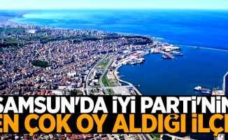 Samsun'da İYİ Parti'nin en çok oy aldığı ilçe
