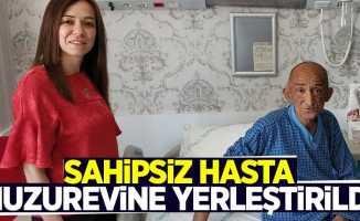 Samsun'da sahipsiz hasta huzurevine yerleştirildi