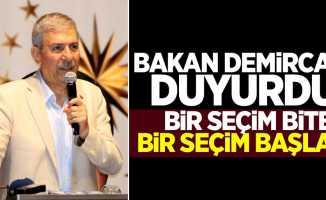 Bakan Demircan'dan yeni seçim açıklaması
