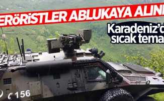 Karadeniz'de PKK'lı 4 terörist ablukaya alındı