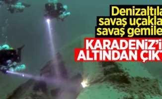 Karadeniz'in altından çıktı: Denizaltı, uçak ve gemi