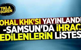 OHAL KHK'sı yayınlandı! Samsun'da ihraç edilenlerin listesi