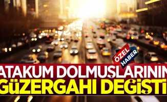Samsun Atakum dolmuşlarının güzergahı değişti!