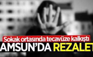 Samsun'da rezalet! Sokak ortasında tecavüze kalkıştı
