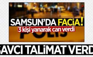 Samsun'daki kazada ölen 3 kişinin cenazeleri adli tıpa gönderildi