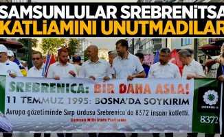 Srebrenitsa katliamı için Samsun ayakta