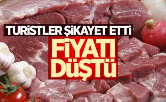 Turistlerin şikayeti et fiyatlarını düşürdü