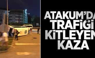 Atakum'da trafiği kitleyen kaza