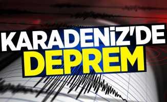 Karadeniz'de 2.5 şiddetinde deprem