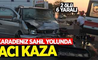 Karadeniz Sahil Yolunda acı kaza: 2 ölü