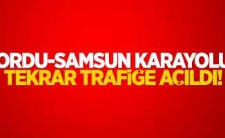 Ordu-Samsun karayolu trafiğe açıldı