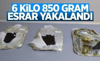 Samsun'da 6 kilo 850 gram esrar yakalandı