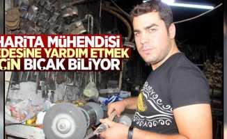Samsun'da Harita mühendisi, bıçak biliyor
