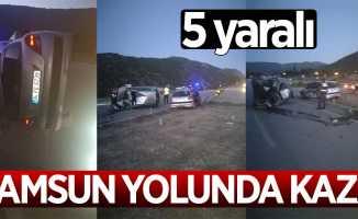 Samsun yolunda kaza: 5 yaralı