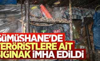 Gümüşhane'de teröristlere ait sığınak imha edildi