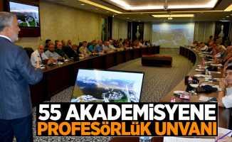 OMÜ'de 55 kişiye profesörlük