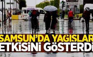 Samsun'da yağışlar etkisini gösterdi