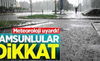 24 Ekim Çarşamba Samsun hava durumu
