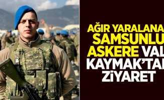 Ağır yaralanan Samsunlu askere Vali Kaymak'tan ziyaret