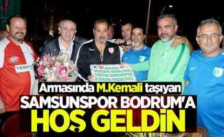 Armasında M.Kemali taşıyan Samsunspor Bodrum'a hoş geldin