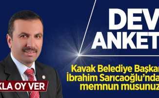 Kavak Belediye Başkanı İbrahim Sarıcaoğlu'ndan memnun musunuz?
