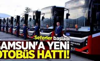 Samsun'a yeni otobüs hattı! Seferler başladı