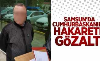 Samsun'da Cumhurbaşkanına hakarete gözaltı