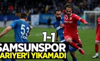 Samsunspor Sarıyer'i yıkamadı 1-1