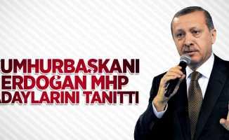Cumhurbaşkanı Erdoğan MHP adaylarını tanıttı