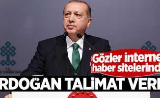 Erdoğan talimat verdi! Gözler internet haber sitelerinde