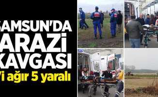 Samsun'da arazi kavgası: 1'i ağır 5 yaralı